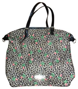 Betseyville Betsey Johnson Tote Animal Print Roses Shoulder Bag