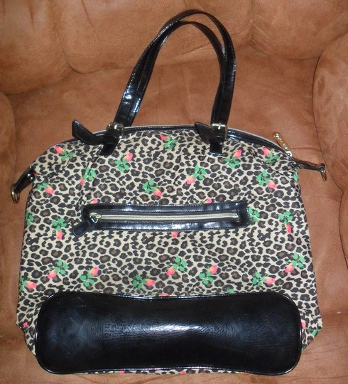 f3c8efb18 Betseyville Betsey Johnson Tote Animal Print Roses Leopard Shoulder Bag -  Tradesy