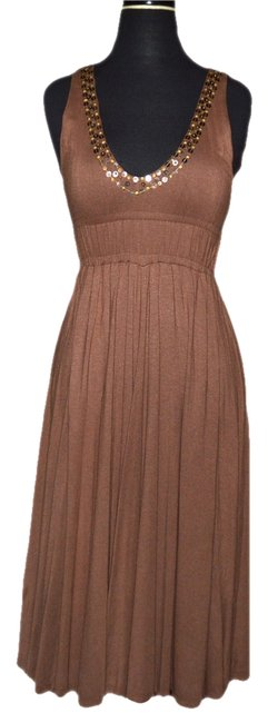 Preload https://img-static.tradesy.com/item/988185/brown-gold-christiane-celle-long-night-out-dress-size-0-xs-0-0-650-650.jpg