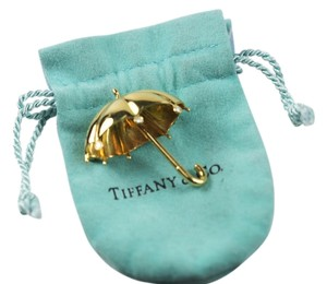 Tiffany & Co. Vintage Rare Umbrella Brooch 14k with Diamonds by Tiffany and Co