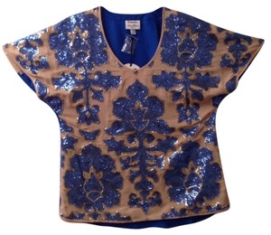 Tracy Reese Top Blue/tan