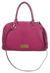 Marc by Marc Jacobs Lauren Large Leather Convertible Satchel in Fuchsia