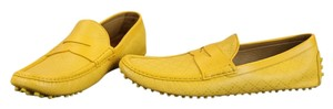 Gucci Leather Driving Mensshoes Yellow Flats