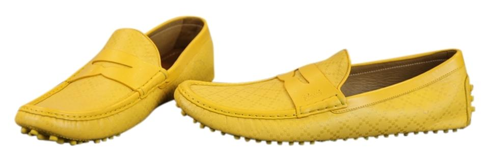 0afc3dd93 Gucci Yellow * Mens Diamante Driving Moccasins - 14.5 Flats Size US ...