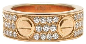 Cartier Cartier Rose Gold Love Ring Pave Diamonds