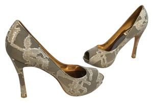 Badgley Mischka Gray & Silver Platforms