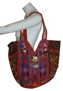 Anthropologie Embroidered Teola Tote in MULTICOLOR