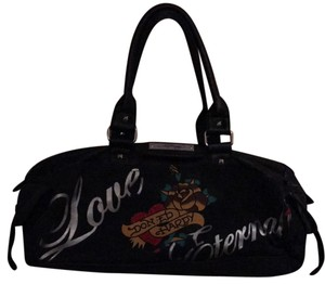Ed Hardy Satchel in Black