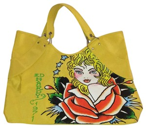 Ed Hardy Tote in Yellow