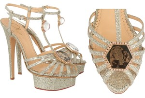 Charlotte Olympia Glitter Vintage Sandals