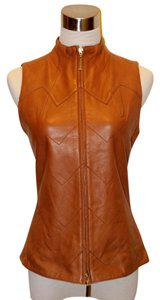 Tory Burch Coat Leather Fall Vest