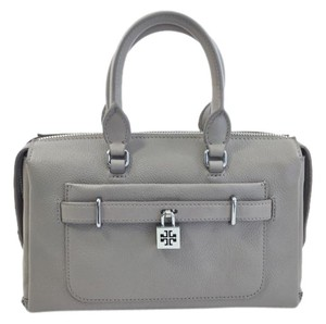 Tory Burch Padlock Satchel in French Grey