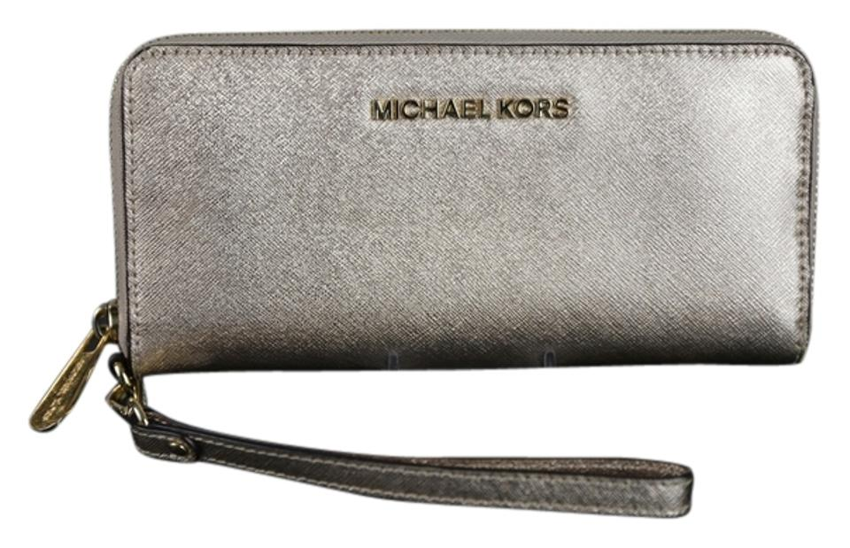 cfa1e8156feb Michael Kors Michael Kors Alex Travel Continental Wallet - Pale Rose Gold .