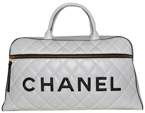 Chanel Paris White Travel Bag