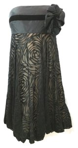 Marchesa Notte Strapless Silk Dress