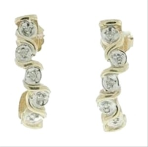10k/ 14k gold and diamond earrings