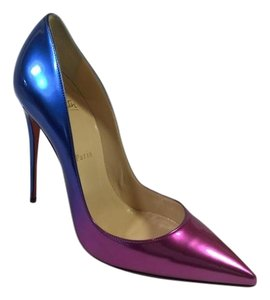 Christian Louboutin Blue/Rose Pumps