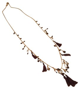 Chan Luu Gold Necklace With Beads And Tassels