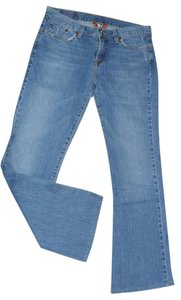 Lucky Brand Sweet N' Low Leg Distressed Denim Retro Boot Cut Jeans-Distressed