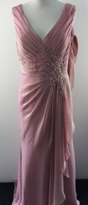 Montage English Rose Iridescent Formal Bridesmaid/Mob Dress Size 8 (M)