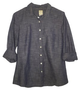 J.Crew Button Down Shirt Denim, Dot Pattern