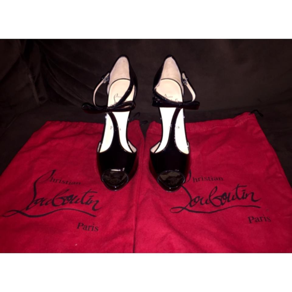 054b0a68e2e Christian Louboutin Black Patent Belly Nodo 120mm Strappy Peep Toe Formal  Shoes Size US 6 Regular (M, B) 62% off retail