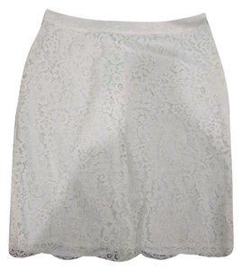 C. Wonder Lace Ivory Skirt White