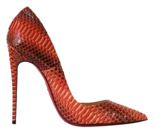 Christian Louboutin orange , papaye Pumps