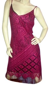 short dress Red lace over black on Tradesy
