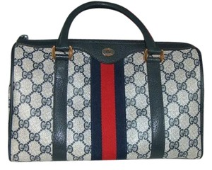 Gucci Boston Vintage Accessory Satchel in Blue