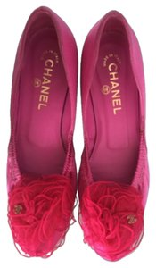 Chanel Hot pink Flats