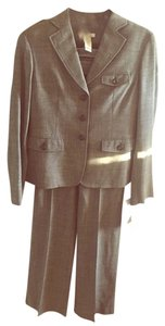 Liz Claiborne gray tweed like 2 piece pants suit