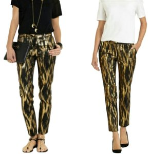 Michael Kors Straight Pants Black/Gold