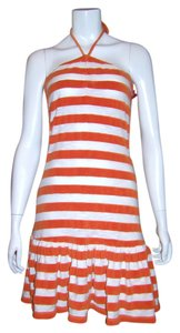 Twisted Heart short dress Orange White Beach Party French Terry on Tradesy