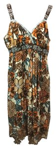 Nicole Miller short dress BROWN Embroidered on Tradesy