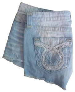 Big Star Vintage Frayed Lace Denim Shorts-Light Wash