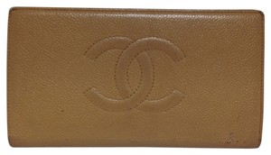 Chanel Chanel #4011 CC Logo Quilted Pink Beige Bi Fold Bifold Pocket Key Coin Holder