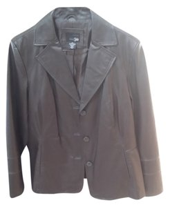 East 5th Essentials Leather BROWN Leather Jacket