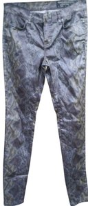 AllSaints Animal Print Skinny Jeans-Coated
