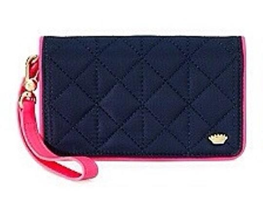 Juicy Couture Wristlet in Pink/blue