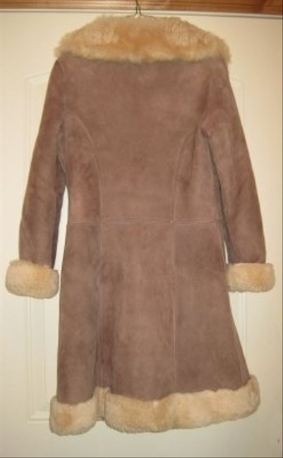 Other Thick Sheepskin Pewter Button Fasteners Fur Coat