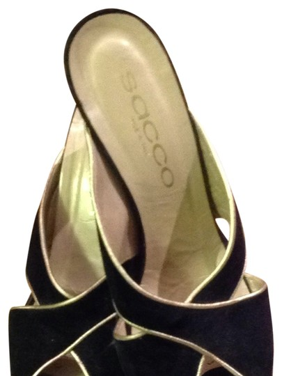 sacco black with gold trimming Sandals