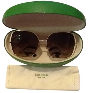 b91333504 Kate Spade Kate Spade Campbell Sunglasses in White and Gold - Brown Lenses