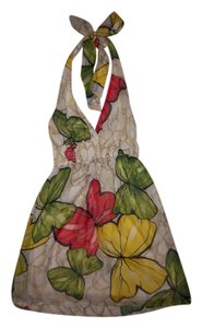 Forever 21 short dress White/Red/Green/Yellow Halter Mini Butterflies on Tradesy