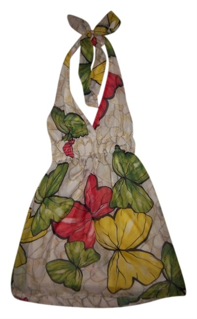 Forever 21 short dress White/Red/Green/Yellow Halter Mini Butterflies Empire Waist Micro-mini on Tradesy