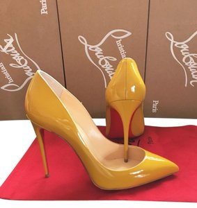 Christian Louboutin Size 38 Pigalle Moutarde Yellow Pumps
