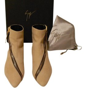 Giuseppe Zanotti Zipper Accent Distressed Design Hidden Wedge Chic Made In Italy Oxide Boots