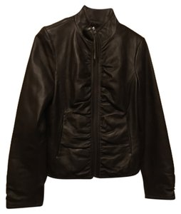 Black Rivet Dark brown Leather Jacket
