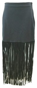 MAMBO Leather Stretchy Skirt BLACK