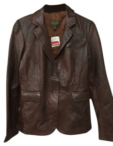 John Carlisle Bronw Leather Jacket